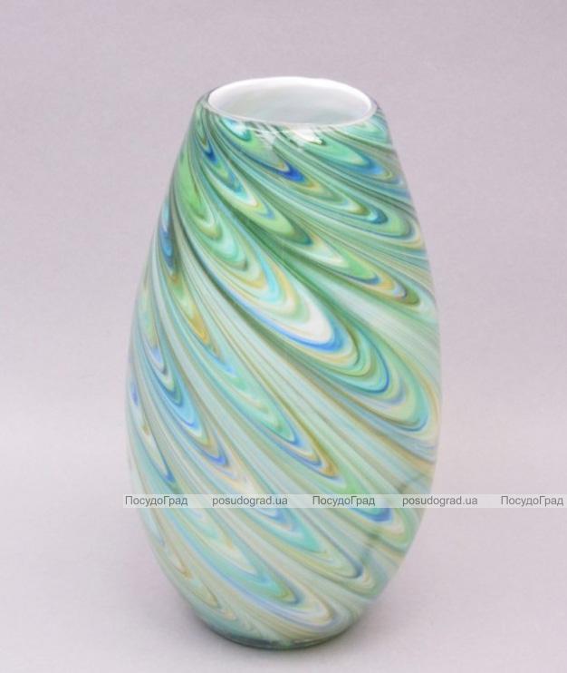Ваза стеклянная Motley Stains oval 30см