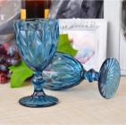 Набор 6 бокалов Gothic Colored Blue 250мл для вина