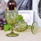 Набор 6 бокалов Gothic Colored Green 250мл для вина
