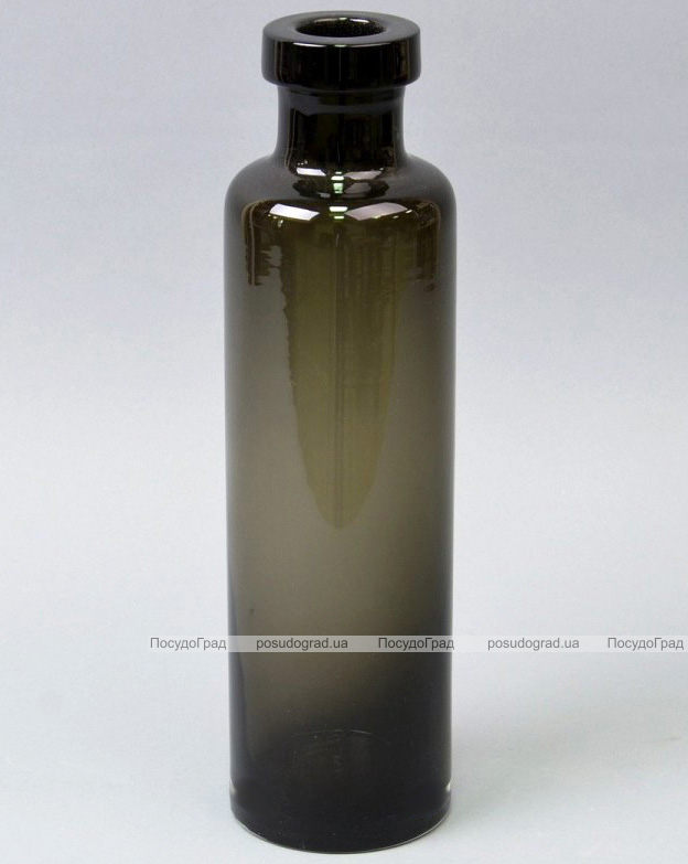 Ваза стеклянная Monophonic Brutal bottle 28см