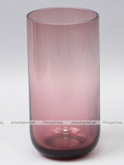 Ваза стеклянная Monophonic Chromatic cylinder 22см Сангрия