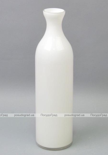 Ваза стеклянная Monophonic Classic bottle 35см Белая