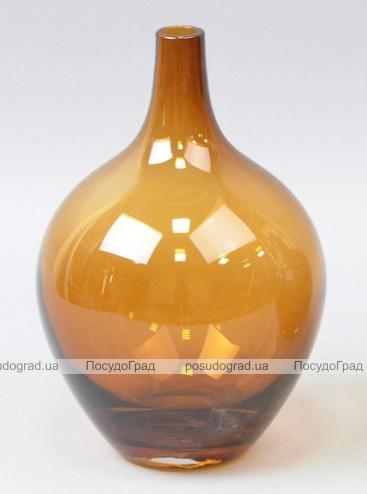 Ваза стеклянная Monophonic Vessel 21см Золотисто-желтая