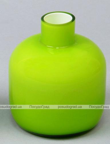 Ваза стеклянная Monophonic Chromatic flask 11см Зеленая