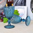 Набор 6 бокалов Gothic Colored Blue 200мл для вина