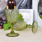 Набор 6 бокалов Gothic Colored Green 200мл для вина