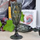 Набор 6 бокалов Gothic Colored Black 150мл для шампанского