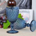 Набор 6 бокалов Gothic Colored Blue 375мл для вина