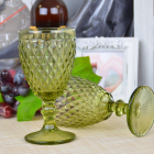 Набор 6 бокалов Gothic Colored Green 375мл для вина