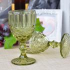 Набор 6 бокалов Gothic Colored Green 280мл для вина