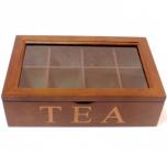 "Коробка-шкатулка ""Many Tea bags"" для чая и сахара, 8 секций, 18х28см"