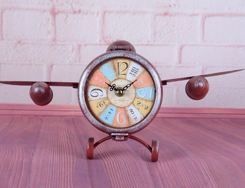 """Часы настольные """"Fly"""" 20x22x35см красные"""