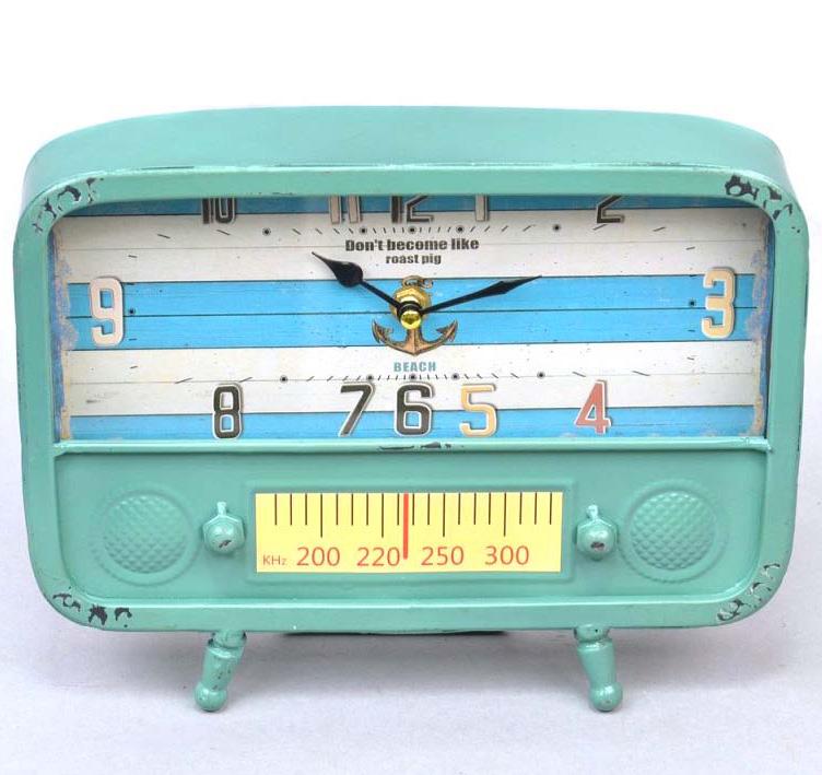 """Часы настольные """"Blue radio"""" 20x26x5см"""