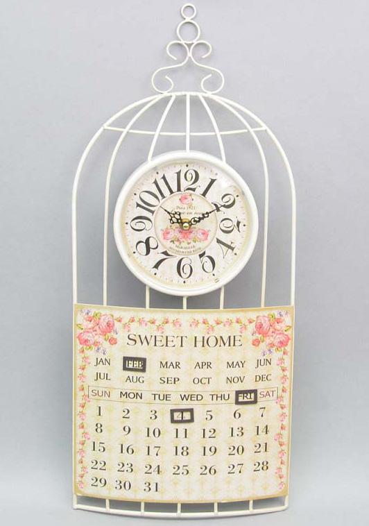 """Часы настенные """"Roses"""" с календарем 60x26см"""