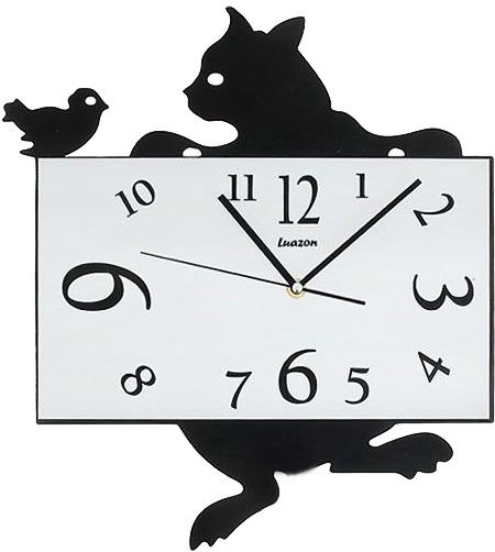 """Часы настенные """"Кошка и птичка"""" 40x34см"""