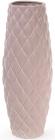 Ваза керамическая Stone Flower 39см, матовая розовая