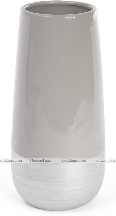 Керамическая ваза Stone Tree 26.5см серебристый с серым