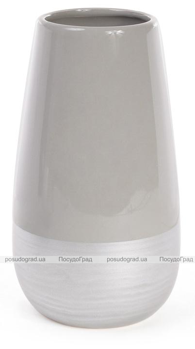 Керамическая ваза Stone Tree 20.5см серебристый с серым