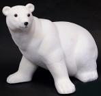"""Новогодний декор """"Белый медведь"""" 40х50х40см пластик"""