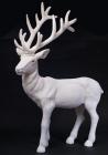 """Новорічний декор """"Білий олень"""" 76см пластик"""