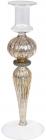 Підсвічник скляний Candlestick 8.5х25см, шампань