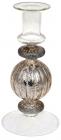 Підсвічник скляний Candlestick 8.5х18см, шампань