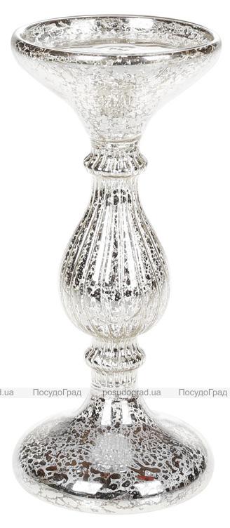 Підсвічник скляний Erwig з LED підсвіткою 20х9см