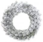 """Новогодний декоративный венок """"Хвоя в снегу"""" Ø50см, искусственная хвоя"""