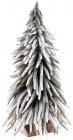 """Декоративна ялинка """"Сніжна"""" 25х25х52см, на дерев'яній підставці"""