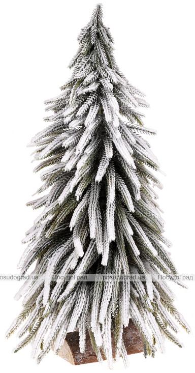 "Декоративная елка ""Снежная"" 25х25х52см, на деревянной подставке"