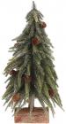 """Декоративная елка """"Золотистый блеск"""" 35см, на деревянной подставке"""