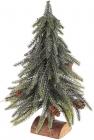 """Декоративная елка """"Серебристый блеск"""" 27см, на деревянной подставке"""