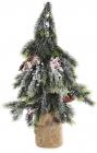"""Декоративная елка """"Ягоды и шишки"""" 50см в джутовом мешочке"""