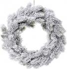 """Новогодний декоративный венок """"Хвоя в снегу"""" Ø40см, искусственная хвоя"""