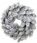 """Декоративный венок """"Снежный"""" Ø30см из искусственной хвои"""