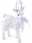 """Новорічний декор """"Біле оленя"""" 35см з комбінованих матеріалів"""
