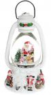 """Декоративний ліхтар """"Санта з подарунками"""" з водяною кулею і LED-підсвіткою 22.5см, музичний"""
