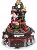 """Декоративна композиція """"Новорічний Експрес"""" з LED-підсвіткою 17х17х21.5см, музична"""