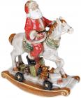 Декор новогодний «Санта на лошади» 31х14х37см, керамика
