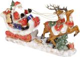 Декор новорічний «Екіпаж Санти» 44.5х12х26см, кераміка