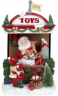 Новогодняя композиция «Santa's Toy Store» с LED подсветкой 22х14х33см, полистоун