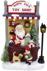 Новогодняя композиция «North Pole Toy Shop» с LED подсветкой 21х14х33см, полистоун