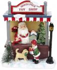 Новогодняя композиция «North Pole Toy Shop» с LED подсветкой 15х10х17см, полистоун