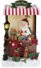 Новорічна композиція «Santa's Toy Shop» з LED підсвічуванням 24х20х40см, полістоун