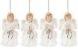 """Набір 4 декоративні підвіски """"Чарівний Янгол"""", 6.2х5.7х11см, порцеляна"""