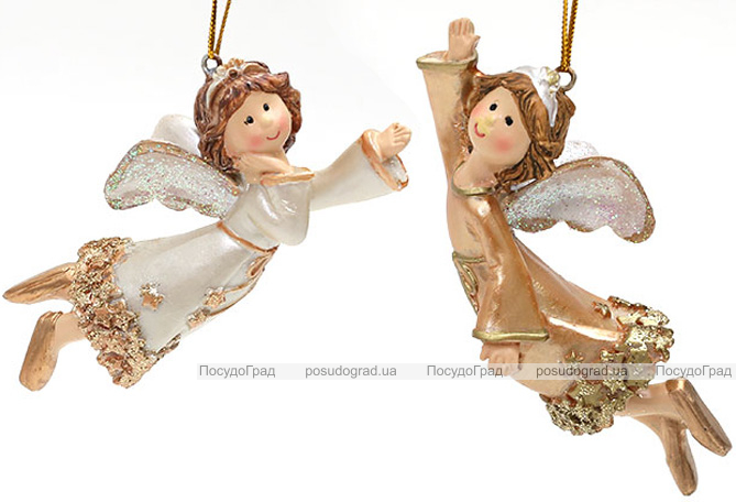 """Статуэтка декоративная подвесная """"Ангел"""" 11.5см, искусственный камень"""