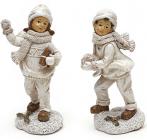 """Статуетка декоративна """"Дітки на снігу"""" 14.5см"""