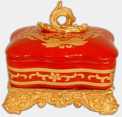 """Шкатулка для мелочей """"Индия с Золотым Орнаментом"""", 20x20x20см"""