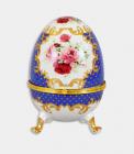 "Шкатулка в формі яйця ""Великдень Blue Classic"", висота 20см"