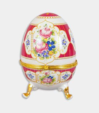 """Шкатулка в форме яйца """"Пасха Bright Raspberry"""", высота 20см"""